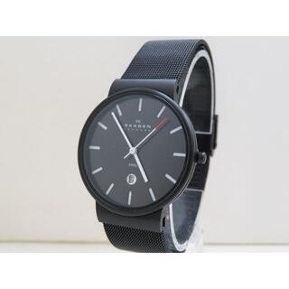 SKAGEN - SKAGEN STEEL 腕時計 ブラック デイト メッシュベルト