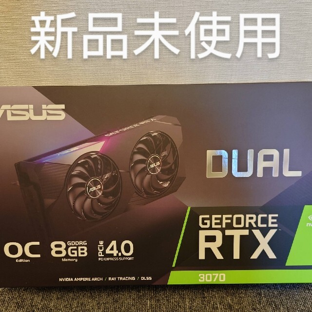 ASUS RTX3070 dual oc 新品 スマホ/家電/カメラのPC/タブレット(PCパーツ)の商品写真