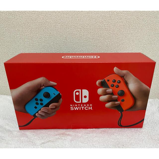 Nintendo Switch(ニンテンドースイッチ)のNintendo Switch本体 ネオンレッド ネオンブルー エンタメ/ホビーのゲームソフト/ゲーム機本体(家庭用ゲーム機本体)の商品写真