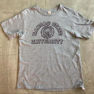 ウエアハウス(WAREHOUSE)のWAREHOUSE ウエハウス カレッジロゴプリントTシャツ Mサイズ(Tシャツ/カットソー(半袖/袖なし))
