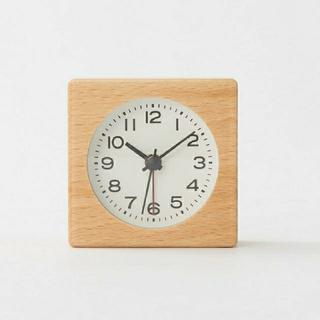 MUJI (無印良品) - ブナ材時計(アラーム機能付) MJ-BC1
