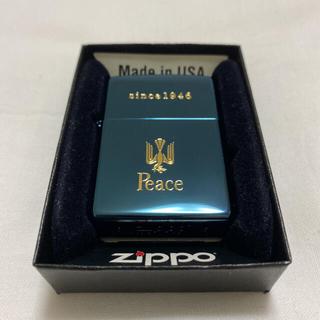 ジッポー(ZIPPO)の【新品未使用】70周年限定の非売品☆Peace Zippo ブルーチタン(タバコグッズ)