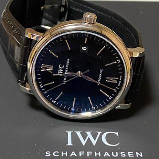 インターナショナルウォッチカンパニー(IWC)の長期保証 美品 IWC ポートフィノ オートマティック IW356502 黒(腕時計(アナログ))