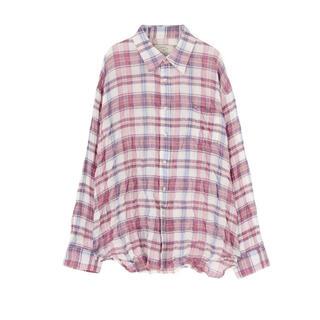 アングリッド(Ungrid)のシャーリングチェックルーズシャツ Ungrid(シャツ/ブラウス(長袖/七分))
