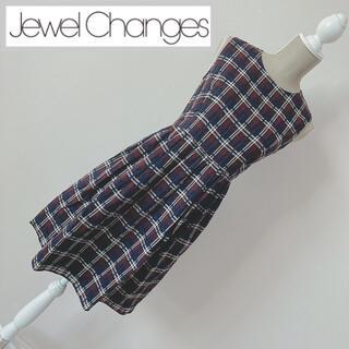 ジュエルチェンジズ(Jewel Changes)のジュエルチェンジズ  チェック柄ワンピース(ひざ丈ワンピース)
