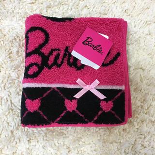 バービー(Barbie)のBarbieタオルハンカチ タグ付き 新品未使用(ハンカチ)