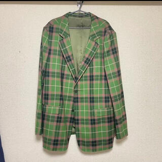 ラッドミュージシャン(LAD MUSICIAN)のlad musician green check taylored jacket(テーラードジャケット)