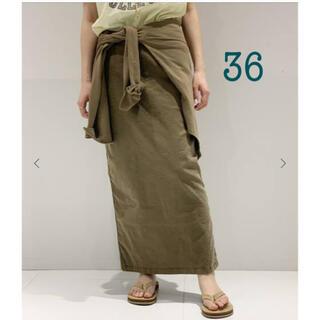 L'Appartement DEUXIEME CLASSE - 新品タグ付き■AP STUDIO ウォッシュ タイトスカート カーキ 36