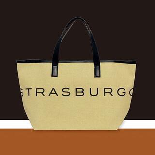 ★STRASBURGO × eclat オータムベージュのBIGロゴトート