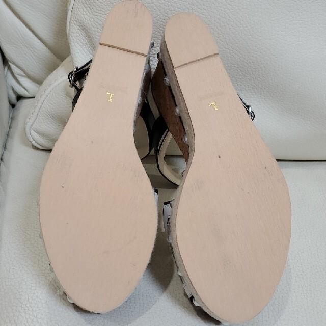 Chesty(チェスティ)のチェスティ ウェッジソールサンダル 黒 L レディースの靴/シューズ(サンダル)の商品写真
