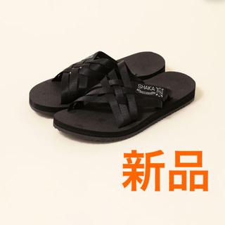 SHIPS for women - 新品定価5,280円 SHAKA シャカ LOS CABOS サンダル ブラック