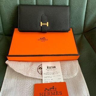Hermes - エルメス ブラック ゴールド金具長財布