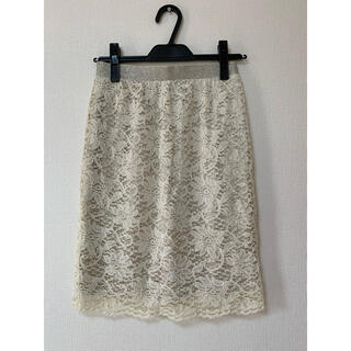 ジーナシス(JEANASIS)の花柄レースタイトスカート(ひざ丈スカート)