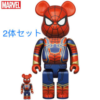 MEDICOM TOY - BE@RBRICK IRON SPIDER 100% & 400% 2体セット