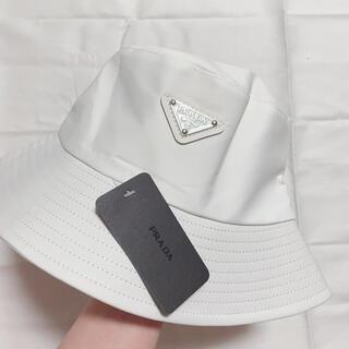 PRADA - PRADA プラダ バケットハット ホワイト 白 新品未使用