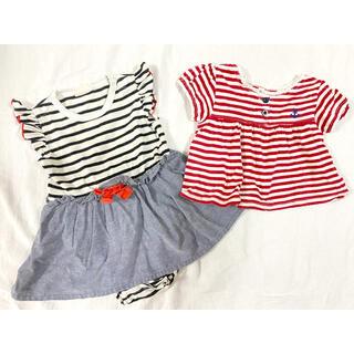ニシマツヤ(西松屋)の女の子 ワンピース Tシャツ セット(ワンピース)