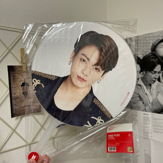 防弾少年団(BTS)(ボウダンショウネンダン)のジョングク うちわ エンタメ/ホビーのCD(K-POP/アジア)の商品写真