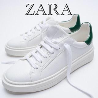 ザラ(ZARA)の新品タグ付き ZARA  スニーカー  24.5(スニーカー)