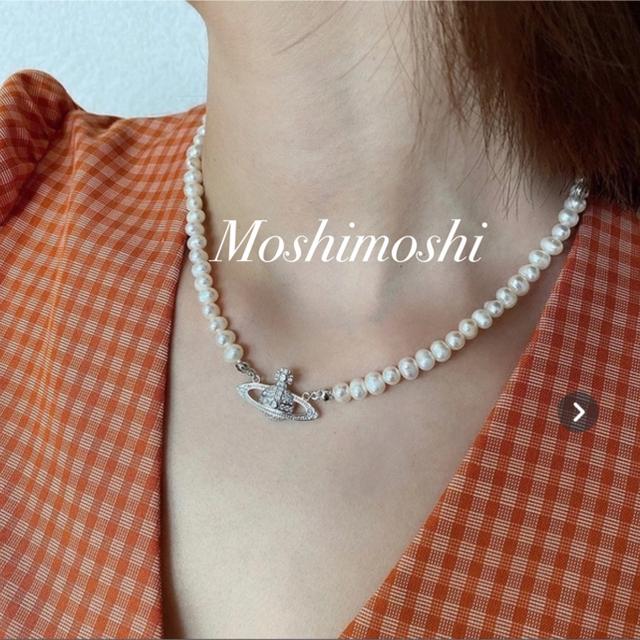 Vivienne Westwood(ヴィヴィアンウエストウッド)のVivienne Westwood ミニバスレリーフパールチョーカー シルバー レディースのアクセサリー(ネックレス)の商品写真