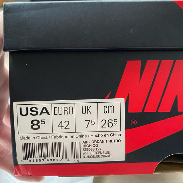 NIKE(ナイキ)のNIKE ナイキ jordan1 ジョーダン dunk ダンク ストームブルー  メンズの靴/シューズ(スニーカー)の商品写真