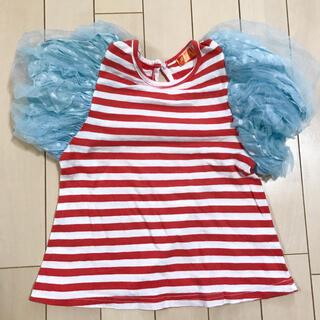 アニカ(annika)ののびーた様専用!韓国子供服 ANNIKA アニカ ボーダーTシャツ M(Tシャツ/カットソー)