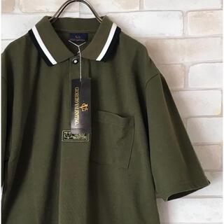 ヴァレンティノ(VALENTINO)の新品未使用品GIORGIO valentinoカーキ色刺繍ロゴポロシャツ(ポロシャツ)