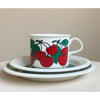 アラビア(ARABIA)のキルシッカ コーヒーカップ&ソーサー&プレート Kirsikka アラビア 8(食器)