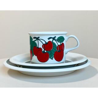 アラビア(ARABIA)のキルシッカ コーヒーカップ&ソーサー&プレート Kirsikka アラビア 9(食器)
