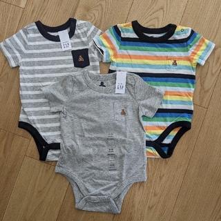 babygap 半袖ロンパース 3枚セット 6-12m 70 新品未使用タグ付き