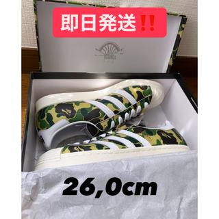 アディダス(adidas)のadidas bape SUPERSTAR80s 迷彩 アディダス ベイプ 新品(スニーカー)