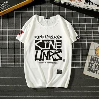 【大人気✨フォロー割有❗】Tシャツ 白 ロゴ メンズ トップス ストリート 春夏