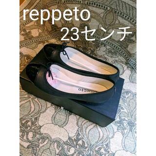レペット(repetto)のレペット フラットシューズ バレエシューズ 36 1/2 ブラックエナメル(バレエシューズ)