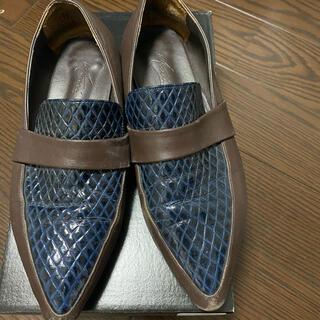 アメリヴィンテージ(Ameri VINTAGE)のamerivintage LEATHER CROCO FLAT SHOES(ローファー/革靴)