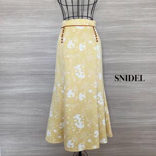 snidel - SNIDEL スナイデル 花柄スカート リトルフラワーロングスカート
