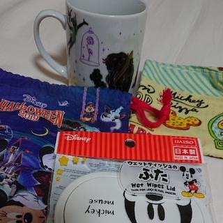 Disney - ディズニー マグカップ、バンダナ、巾着、ウェットティッシュふた