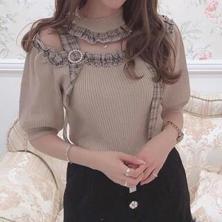 スワンキス(Swankiss)のSwankiss 切替check knit(ニット/セーター)