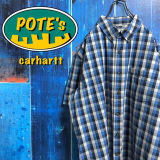 carhartt - 【カーハート】ポケットロゴタグ半袖ワークチェックシャツ
