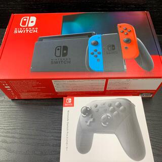 Nintendo Switch - Nintendo Switch 任天堂 スイッチ 本体+プロコン1台セット