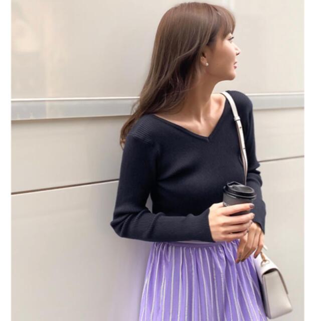 神戸レタス(コウベレタス)の神戸レタス♡岡部あゆみコラボニット♡ブラック レディースのトップス(ニット/セーター)の商品写真