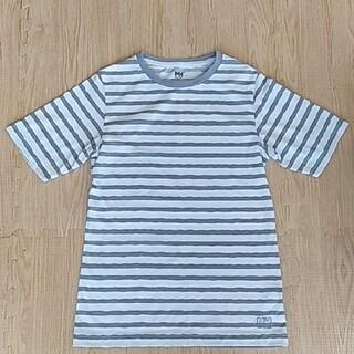ヘリーハンセン(HELLY HANSEN)のボーダーTシャツ M HELLY HANSEN グレー(Tシャツ(半袖/袖なし))