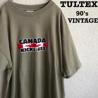90s TULTEX カナダ製 プリント Tシャツ 90's vintage