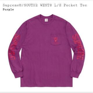Supreme - Supreme SOUTH2 WEST8 L/S Pocket Tee 21ss