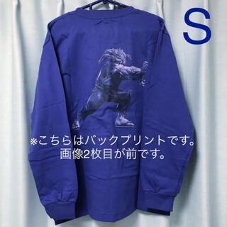 ジーユー(GU)のGU ストリートファイター コットンクルーネックT 長袖 ブルー S(Tシャツ/カットソー(七分/長袖))
