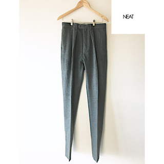 COMOLI - neat(ニート) tapered wool pants 46