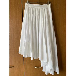 エモダ(EMODA)の【EMODA】アシンメトリー 2wayシフォンスカート FREEサイズ(ひざ丈スカート)
