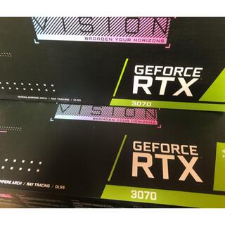 GIGABYTE RTX 3070 VISION OC 8GB 2個セット