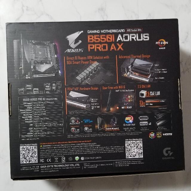 GIGABYTE B550I AORUS PRO AX美品 スマホ/家電/カメラのPC/タブレット(PCパーツ)の商品写真