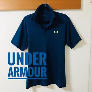 UNDER ARMOUR - 【美品】UNDER ARMOUR(アンダーアーマー)★半袖ポロシャツ★紺XL★