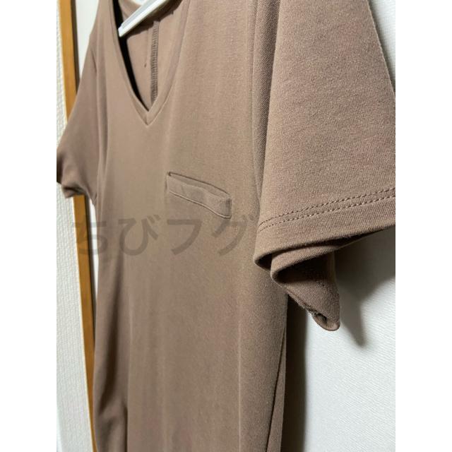 Herlipto Tシャツワンピース モカ フリーサイズ レディースのワンピース(ロングワンピース/マキシワンピース)の商品写真