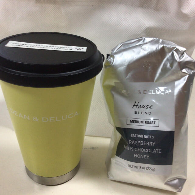 DEAN & DELUCA(ディーンアンドデルーカ)のディーンアンドデルーカ タンブラー&コーヒー粉セット インテリア/住まい/日用品のキッチン/食器(タンブラー)の商品写真